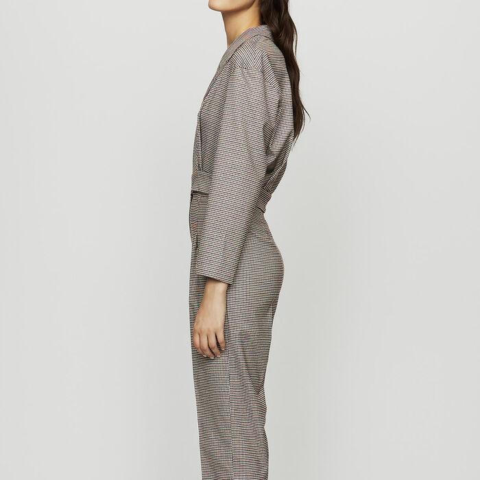 accc302934f PINDY Belted plaid jumpsuit - Pants   Jeans - Maje.com