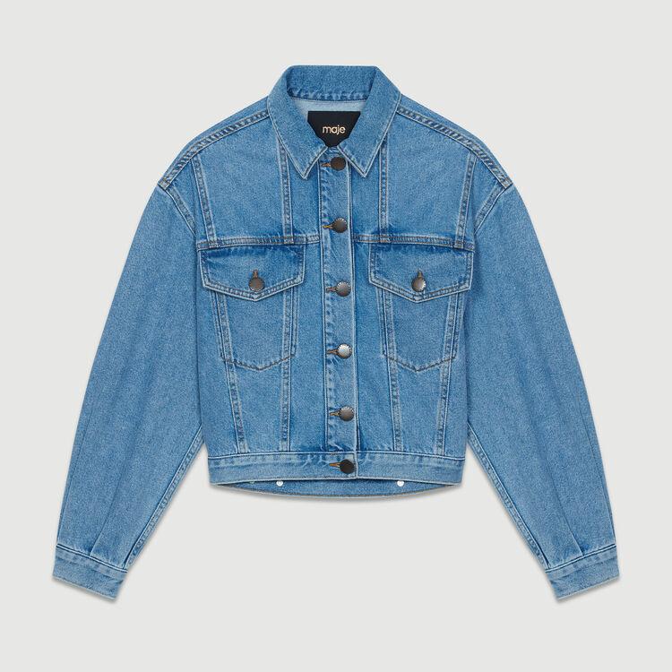 Cropped denim jacket : New Collection color Denim