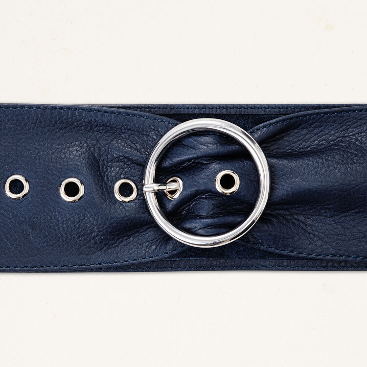 Wide leather belt : null color
