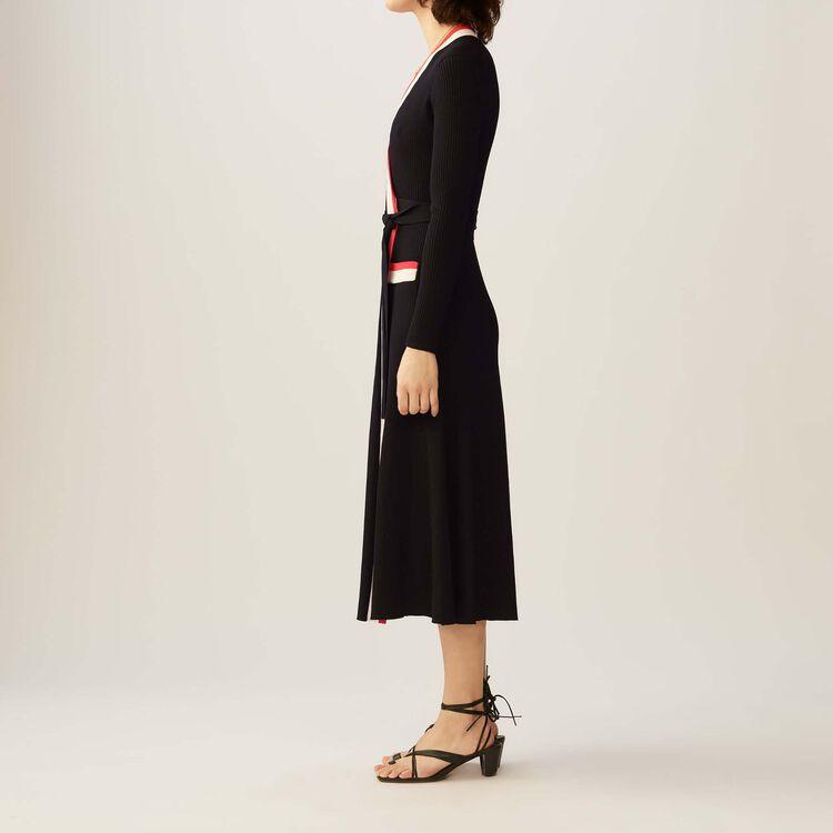 Rosiana Maxi Knit Wrap Dress Dresses Maje