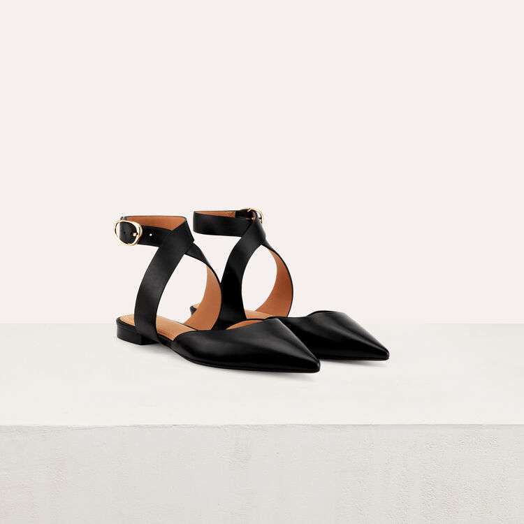 Sandal with loop at ankle : Shoes & Accessories color Black 210