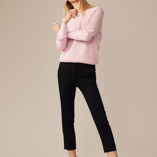 Viscose straight-leg trousers : Pants & Jeans color Black 210