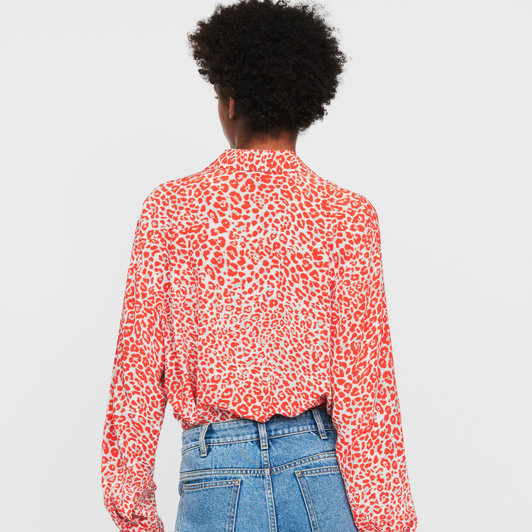 Leopard print blouse : Tops & T-Shirts color PRINTED