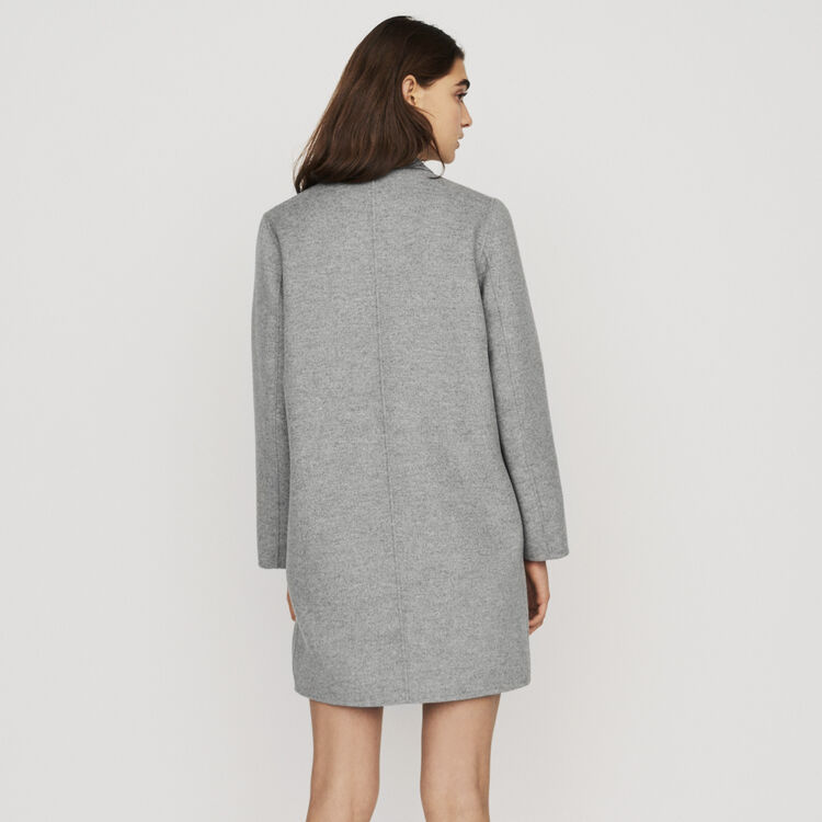 Mid-length double-faced coat : New in: Spring Collection color Grey