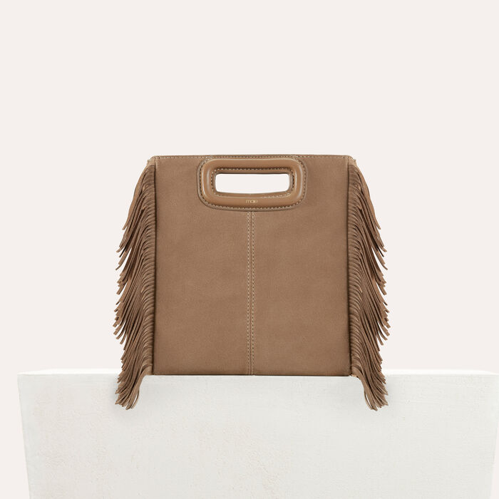 Suede M bag : M Bags color Beige