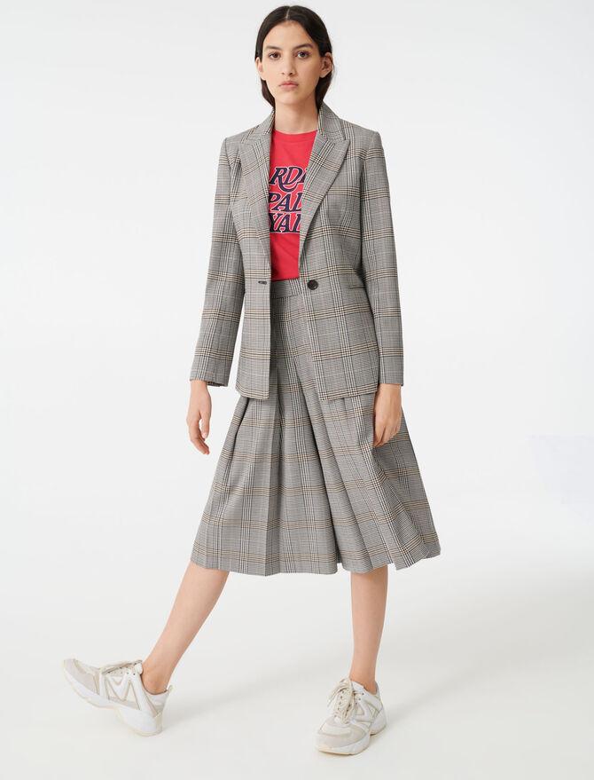 Single-breasted checked jacket - Coats & Jackets - MAJE