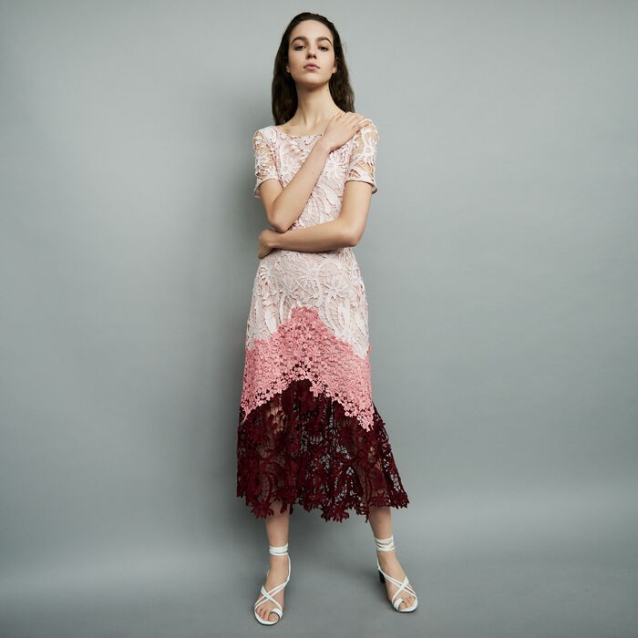 Long dress with performance fabric : Dresses color Multico
