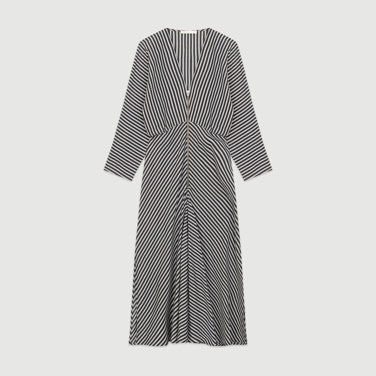 Zipped midi dress with stripes : New in: Spring Collection color Stripe