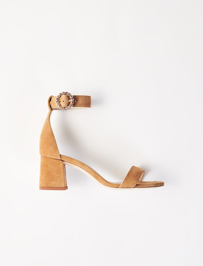 Strappy midi-heeled sandals - Shoes - MAJE