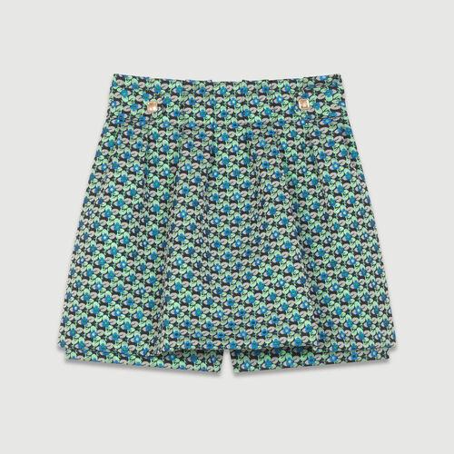 Jacquard cropped skirt : Skirts & Shorts color Jacquard