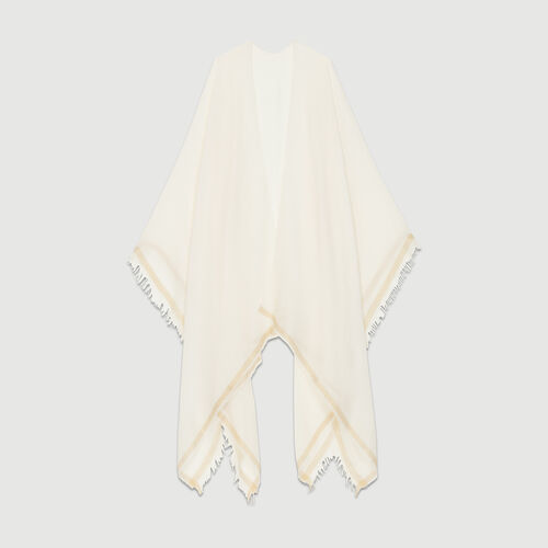 Lurex striped poncho : Scarves color Pink
