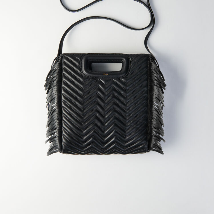 Quilted leather M bag : The Essentials color Black