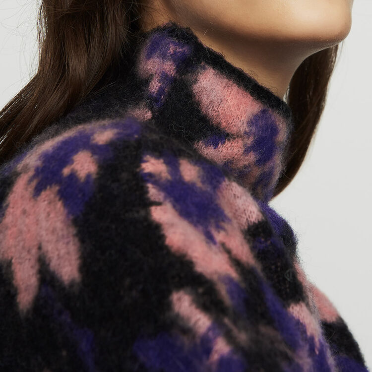 Printed sweater in wool blend : Sweaters color Multico