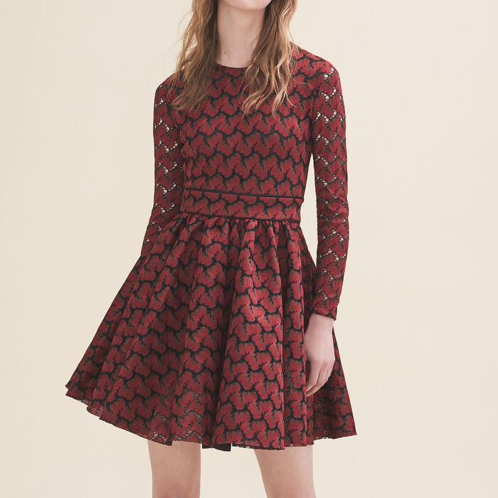 Bonded lace dress -  - MAJE