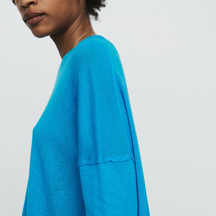 Oversize sweater in cashmere : Sweaters color Blue