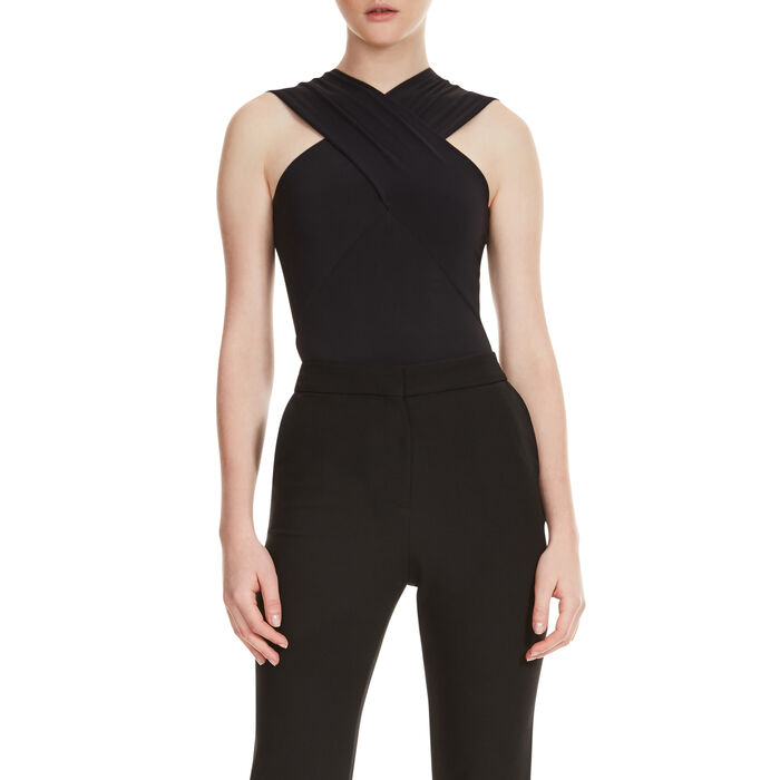 Body with crossover neckline - Tops & T-Shirts - MAJE