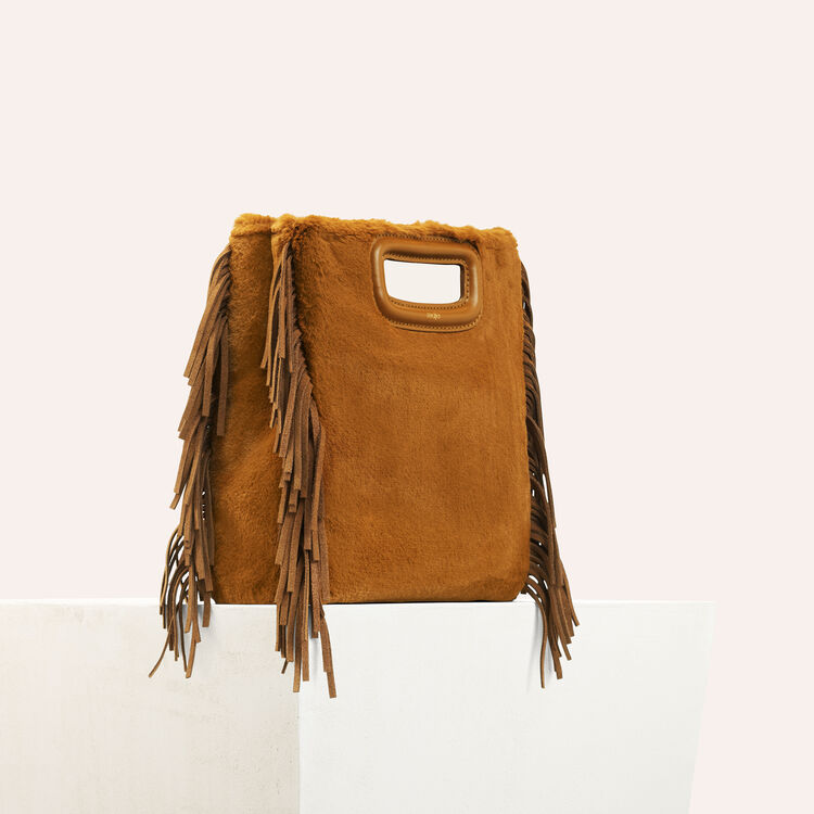 Faux fur M bag : null color