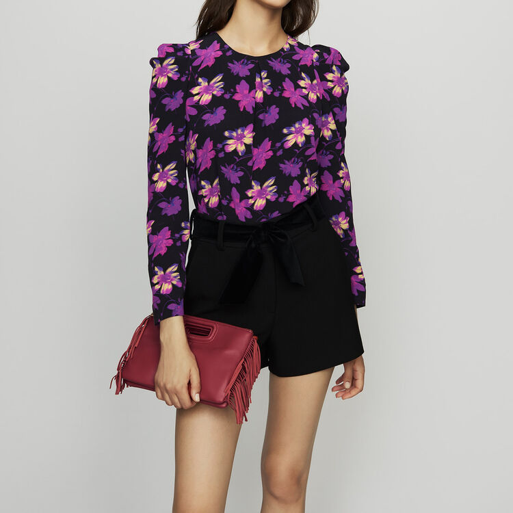Crepe top with floral print : Tops & Shirts color Print