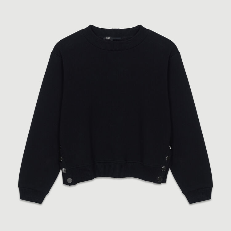 Sweatshirt with back embroidery : Tops & Shirts color Black 210