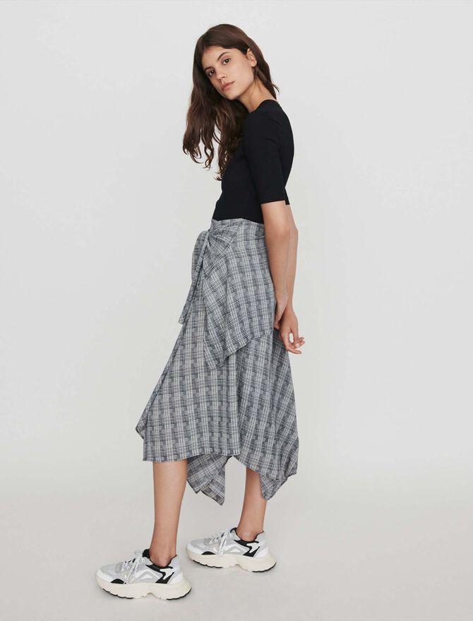 Layered Dress with Scarf Skirt - Dresses - MAJE