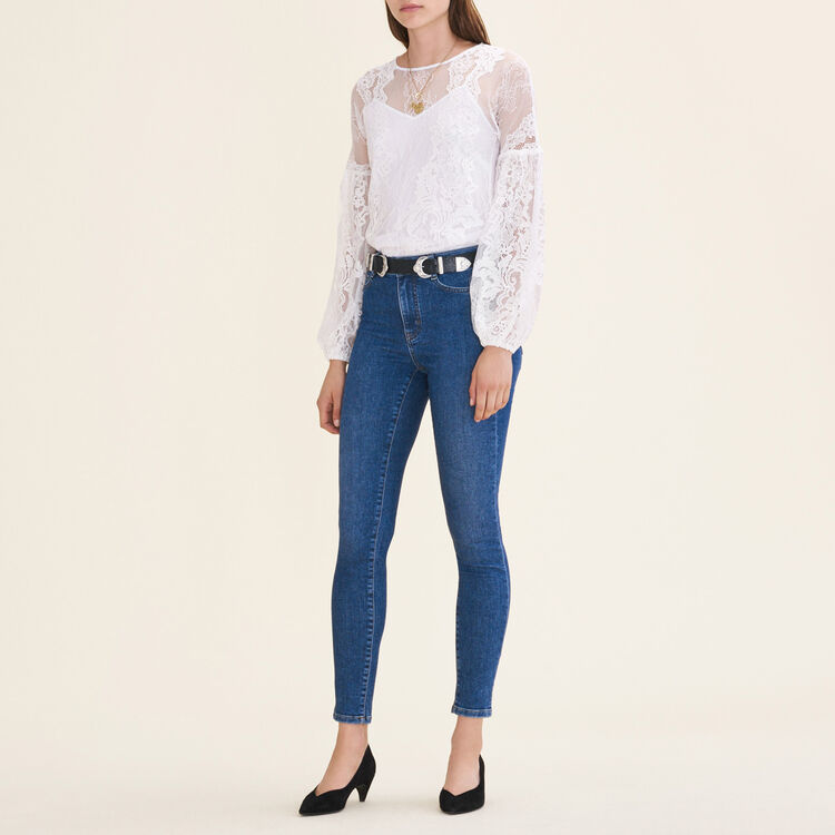 Lace top : null color