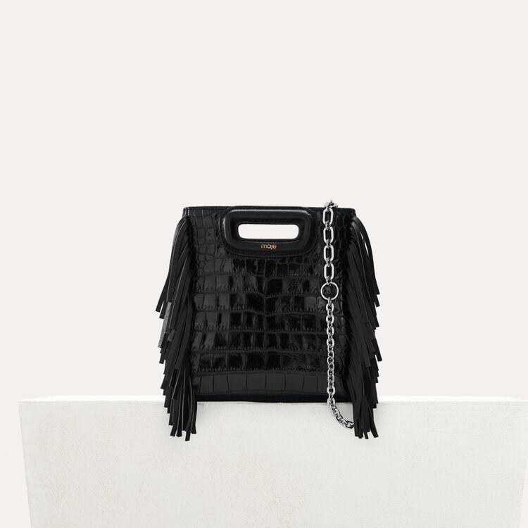 Mini M Bag In Crocodile With Chain