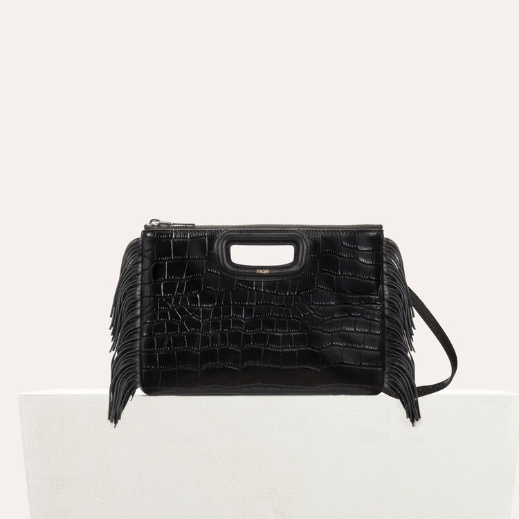 M Duo clutch in crocodile : Bags color Black 210