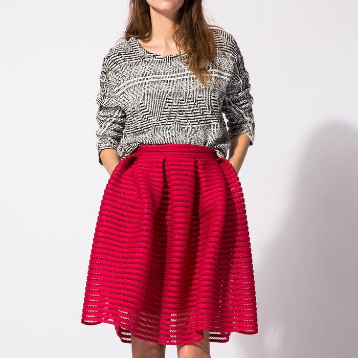 Cotton jacquard jumper : Copy of Sale color