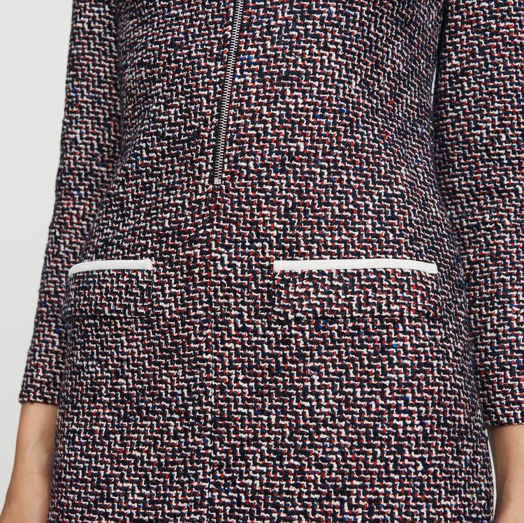 Tweed shirt dress : Dresses color Jacquard