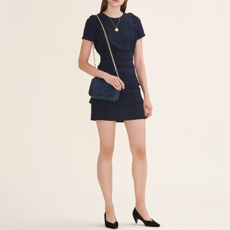 Short dress with frill detailing : null color