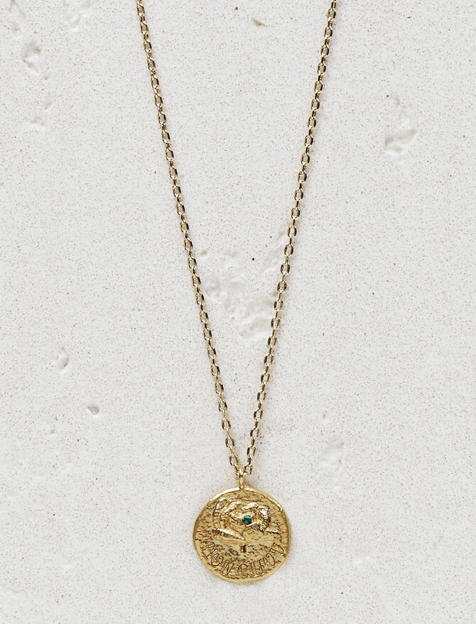 "Necklace with medallion ""Mon chou"" -  - MAJE"