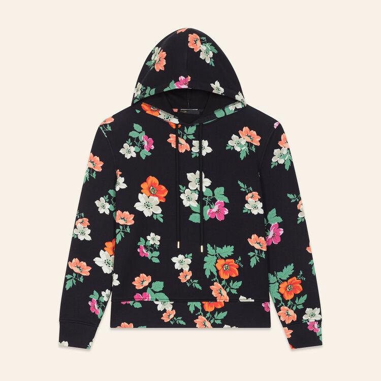 Printed hooded sweatshirt : null color