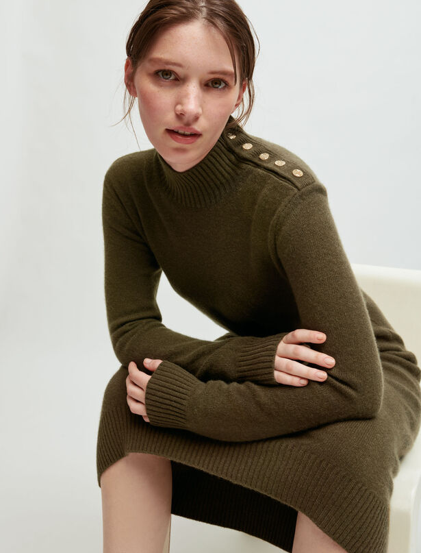 Maje 100% cashmere sweater dress with collar