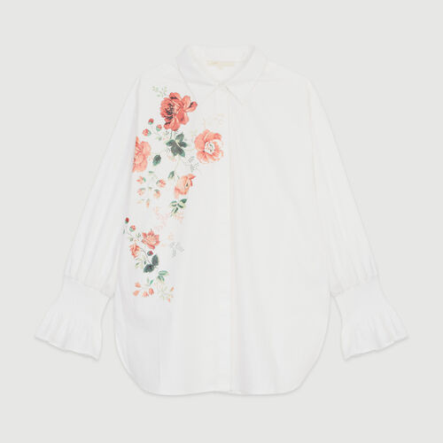 Floral print shirt : Tops & Shirts color White