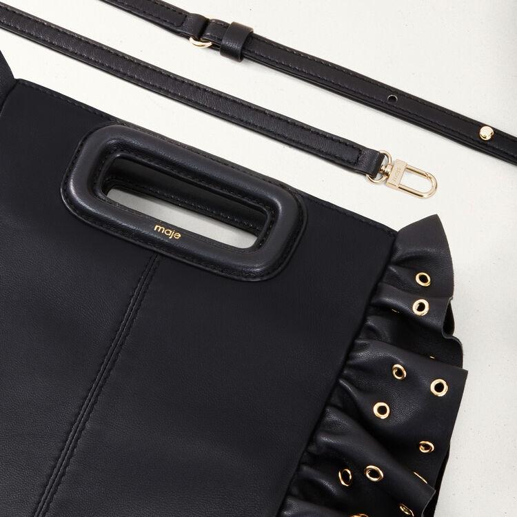 Frilled M bag : All bags color Black 210