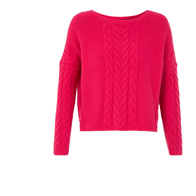 Cable knit sweater : null color