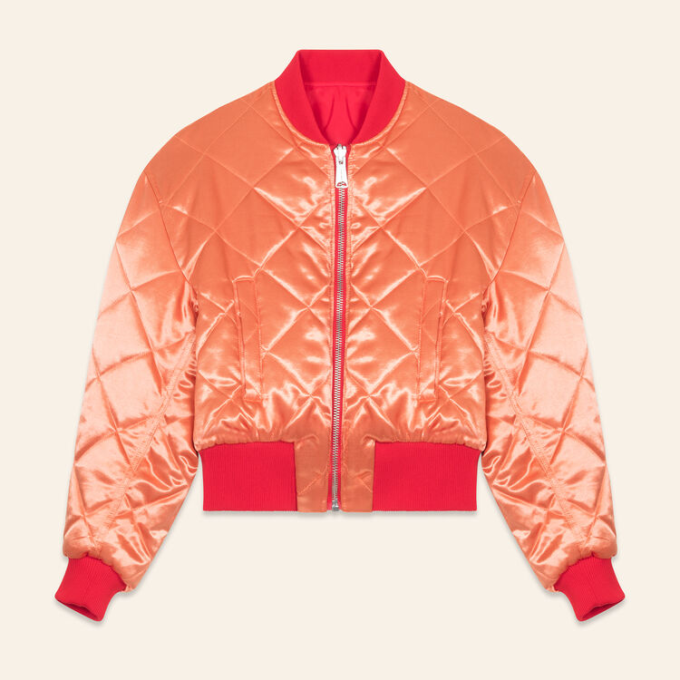 Cropped reversible bomber jacket : Coats & Jackets color Red