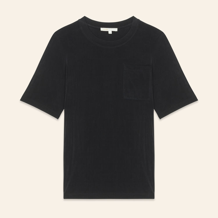 Cupro T-shirt : Tops & T-Shirts color Black 210