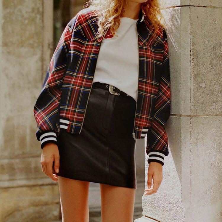 Plaid bomber : Coats & Jackets color CARREAUX