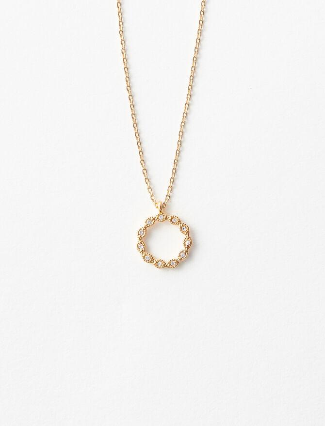 Rhinestone O necklace -  - MAJE