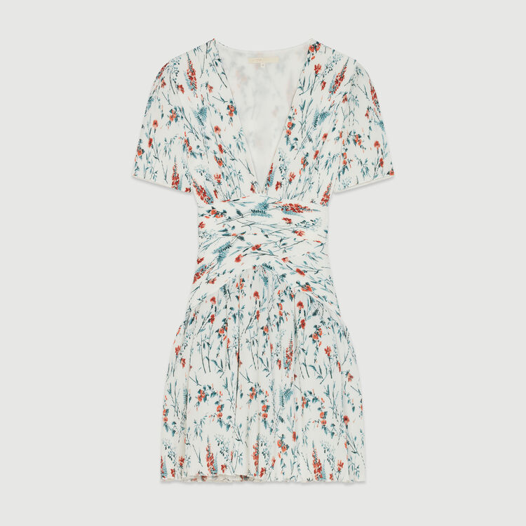Short printed dress with jewel : Dresses color PRINTED