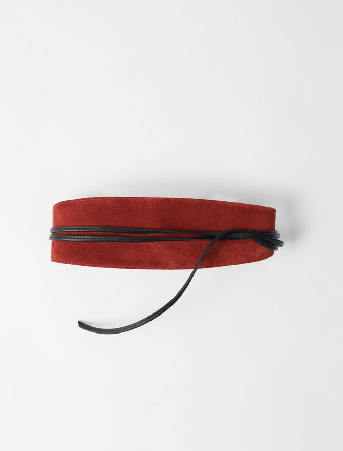Suede belt with lace - Belts - MAJE