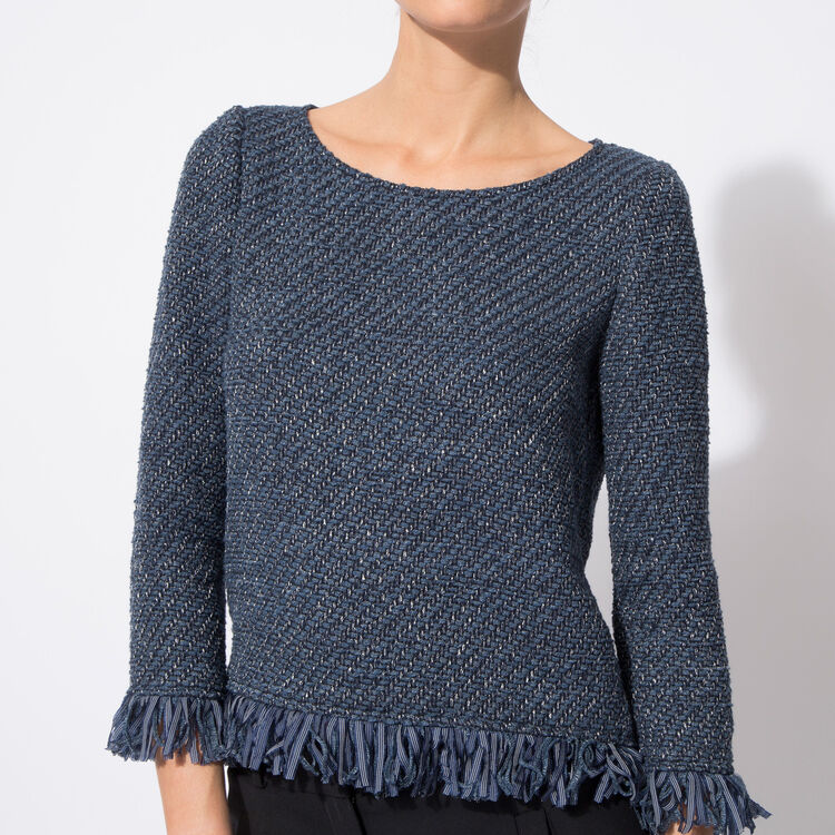 Top in braided cotton with tassels : Copy of Sale color