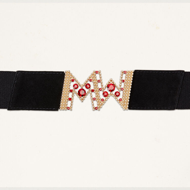 Wide elasticated belt : Belts color Black 210