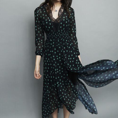 Asymmetrical long print dress : Dresses color PRINTED