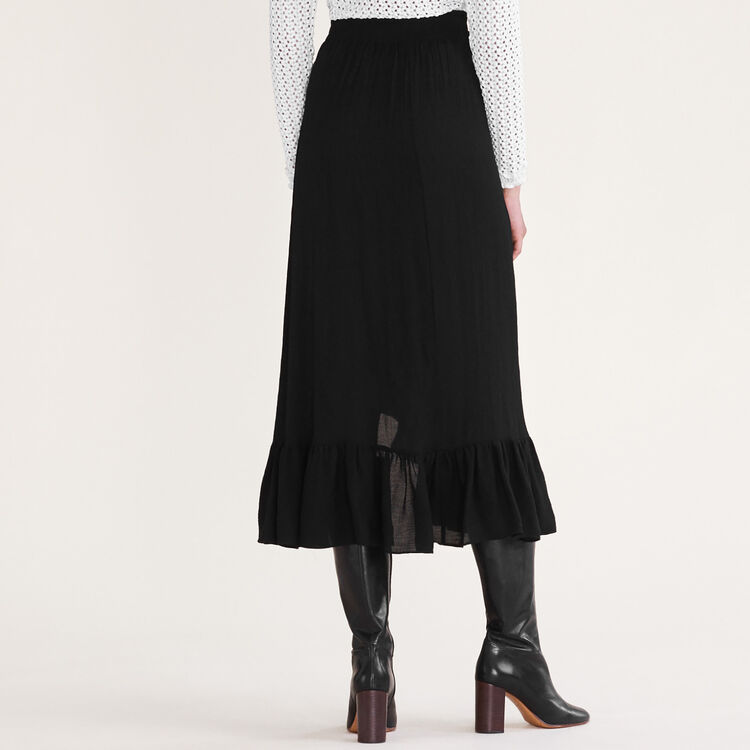 Asymmetric frilled skirt : null color