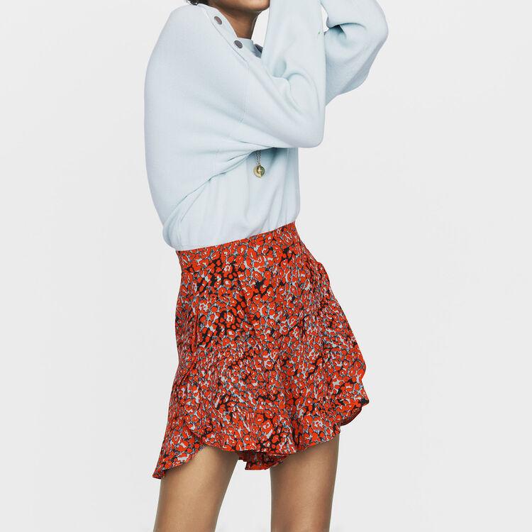Printed ruffled shorts : Skirts & Shorts color PRINTED