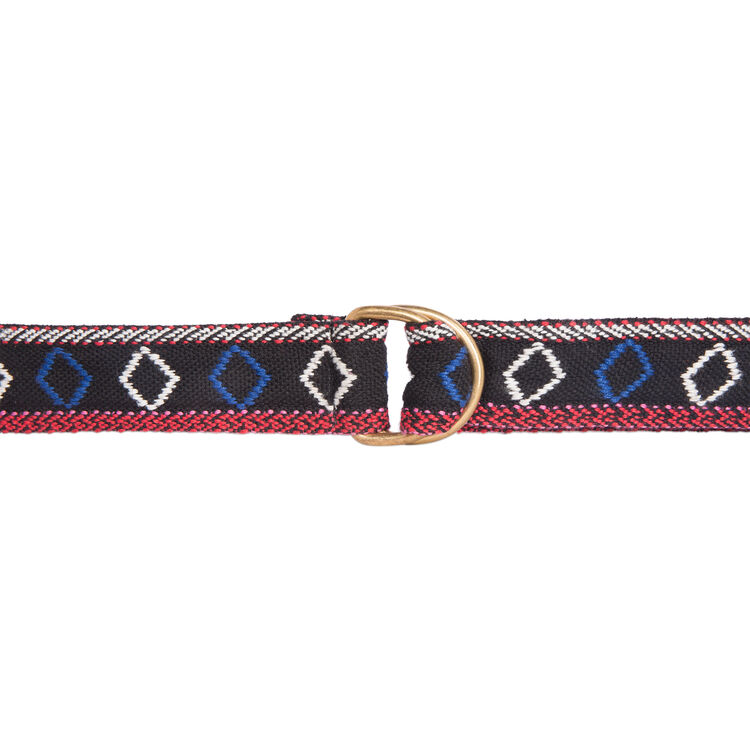 Multi-coloured ethnic fabric belt  : On the road color