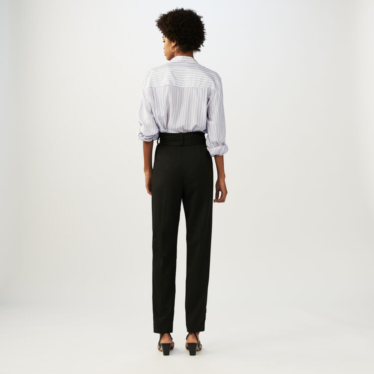 Low-slung belted pants : New Collection color Black 210
