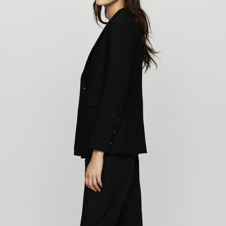Suit jacket with pressed detailing : Coats & Jackets color Black 210